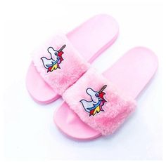 Cute Slippers, Slippers For Girls, Flip Flop Slippers, Kid Shoes, Cute Shoes, Girls Shoes, Unicorn Bed Set, Unicorn Print, Fuzzy Flip Flops