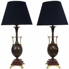1stdibs | A Pair Of Parcel-gilt Bronze Lamps By Cahieux And Barbedienne