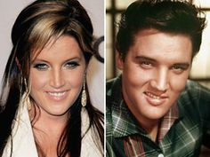 Elvis & daughter Lisa Marie Presley.  They look so much alike!