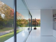 Glistening Modern House Design in a Sleek Transparent Glass Structure: Excellent Glass Wall Architecture Design At Haus By Werner Sobek ~ wegli Architecture Details, Interior Architecture, Interior And Exterior, Decor Interior Design, Interior Decorating, German Houses, Glazed Walls, Glass Structure, Window Design