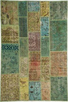 Patchwork #vintage #rug from @floorstory http://www.floorstory.co.uk/range/rugs/patterned/genuine-vintage-patchworkgreen