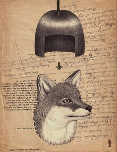 collage by  Inga Birgisdóttir  - #collage #art #birgisdottir #fox