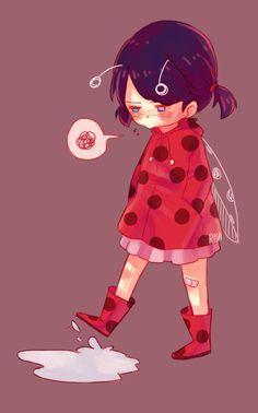 Que kawaii !! Marinette a los cinco años.