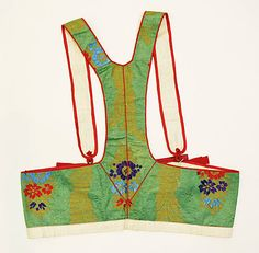 20-11-11  Bodice                                                                                      Date:                                        20th century                                                          Culture:                                        Swedish                                                          Medium:                                        silk, cotton, metal