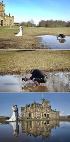 15+ Photos That Prove Wedding Photographers Are Crazy #photography #weddingphotography http://www.boredpanda.com/funny-crazy-wedding-photographers-behind-the-scenes/