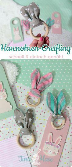 Nähanleitung: super einfaches DiY! Hasenohren-Greifling / -Beißring für Babys nähen – Tina Hase – DiY Blog | Erinnerungen, Deko & Geschenke