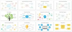 Creative Mind Map Slide Deck for PowerPoint. Included in this package; tree diagram, hand drawn mind map, sticky notes with arrows, infographic with human silhouette, idea mind map, and many more handy diagrams for your PowerPoint presentations.