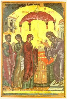 Meeting of our Lord. Ancient icons of Jesus Christ Byzantine Icons, Byzantine Art, Orthodox Catholic, Saint Feast Days, Christian Artwork, Religious Icons, Orthodox Icons, Ancient Civilizations, Illuminated Manuscript