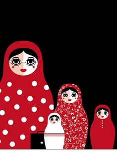 Russian dolls illustrating a family business. www.matrioskas.es