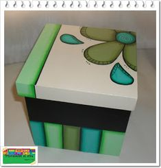 Discover thousands of images about Cuadros Madera Mdf Hawaii Dermatology Images Wallpaper Painted Wooden Boxes, Wood Boxes, Hand Painted, Wood Crafts, Diy And Crafts, Arts And Crafts, Country Paintings, Pretty Box, Diy Box