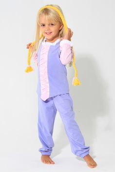 Pijama Princesinha de Tranças