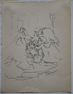 Jean Cocteau:Lithograph Plate 3 (Guerriers et victime) from Les Enfants Terribles. €220 See more Gift Ideas @thewhitleyartgallery.com