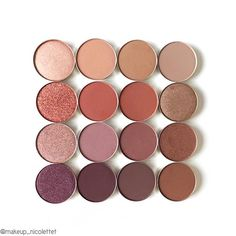 WEBSTA @ makeup_nicolettet - One of my favourite brands of single eyeshadows is @anastasiabeverlyhills Definitely get on it if you havent already 👌🏼 Shades from the top row: Glisten, Birkin, Fawn, Warm Taupe. Second row: Henna, Blazing, Sienna, Comfort. Third row: Rose, Dusty Rose, Red Earth, Cogniac. Last row: Rosette, Beauty Mark. , Deep Plum, Morroco 💖 #makeup #anastasiabeverlyhills #abh #love #eyeshadow #favourite #best #matte #shimmer #duochrome #getonit #mua #aumua #beauty…