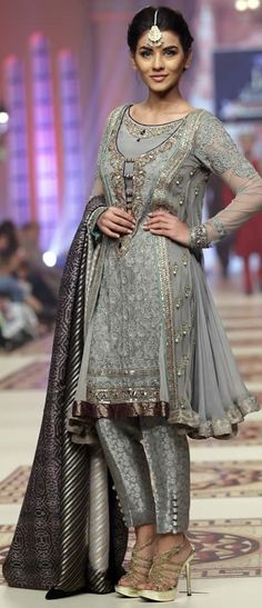 Pakistani couture. Shoes Pants Dress Character Headdress