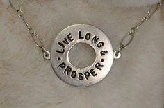 Trekkie  Live Long & Prosper  High Quality Hand by CosmicBling, $19.50
