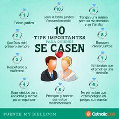 Infografía: 10 tips para quienes se casen | Catholic-Link