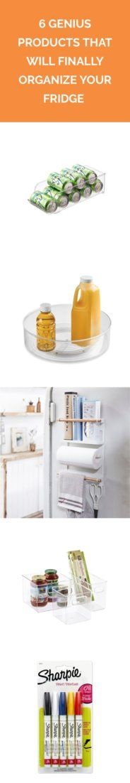 6 Genius Products That Will Finally Organize Your Fridge | These smart organizers will help you conquer the clutter once and for all.