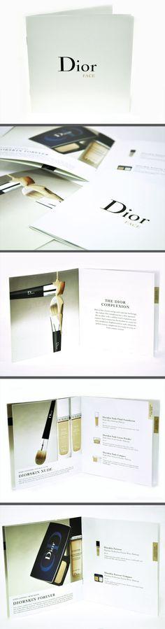 mini design Dior face brochure, your small business graphic designer sydney
