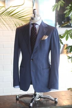 Blue solaro suit. Made by tailorable Winelabel
