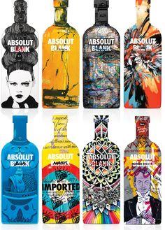 Artistas de todo o mundo criam 18 garrafas para Absolut vodka | We Do Logos