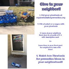 Help spread awareness this April for Child Abuse Prevention month! Let your neighbors help spread awareness and show their support with planting pinwheels! Child Abuse Prevention, Your Neighbors, Pinwheels, Planting, Let It Be, Life, Plants, Weather Vanes