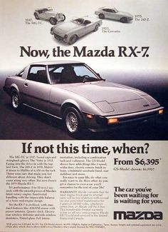 Looking to customize your Mazda? We carry a wide variety of Mazda accessories including dash kits, window tint, light tint, wraps and more. Classic Japanese Cars, Mazda Cars, Car Brochure, Ad Car, Rx7, Cabriolet, Import Cars, Transporter, Car Advertising