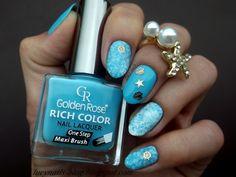 Pretty starfish nail sticker nails!