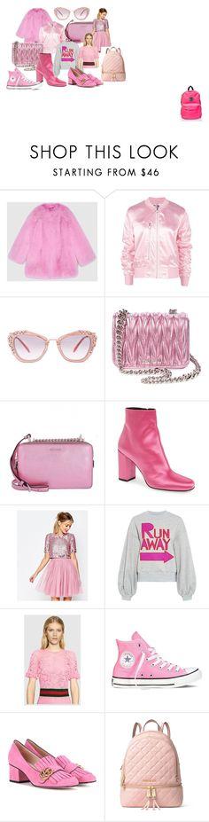 """pink things"" by sabrinabuizza on Polyvore featuring mode, Gucci, Boohoo, Miu Miu, Yves Saint Laurent, ASOS, Karen Walker, Converse, MICHAEL Michael Kors et Maui and Sons"