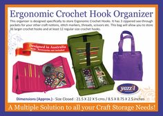 Crochet Hook Sizes, Crochet Hooks, Cosmetic Storage, Organising, Stitch Markers, Quilting Projects, At Least, Organization, Quilts