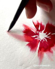 Watercolor Paintings For Beginners, Watercolor Art Lessons, Watercolor Projects, Watercolor Techniques, Watercolor Flowers Tutorial, Flower Tutorial, Floral Watercolor, Art Plastique, Watercolor Illustration