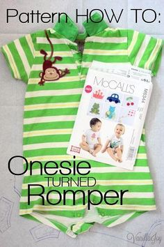 DIY Clothes Romper Refashion : DIY  Playsuit Romper Pattern