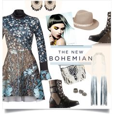 A fashion look from September 2015 featuring Clover Canyon dresses, SOREL boots and Antik Batik shoulder bags. Browse and shop related looks.