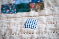 Pleasant View Schoolhouse: Floating Gingham Patch Scrap Quilt