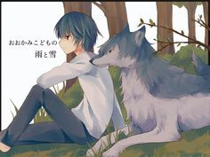 wolf children wallpaper siblings - Google Search