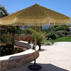 9 Wood Tilting Tiki Umbrella