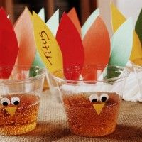 Interior Designing. Cool Cute Glass with Colorful Thanksgiving Theme Decoration. Beautiful Thanksgiving Table Centerpiece Ideas