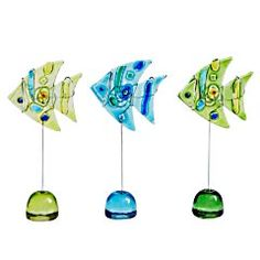 Pier1imports Glass Photo Fish Clips - Set of 3