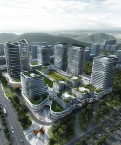 Aedas wins competition to develop vast hi-tech innovation park in China — Architecture For Future - Architecture Urbanism Interior Art Technology Office Building Architecture, Green Architecture, Concept Architecture, Futuristic Architecture, Sustainable Architecture, Amazing Architecture, Landscape Architecture, Building Design, Architecture Design