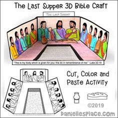 The Last Supper Bible Craft and Learning Activity for Sunday School from www.dan… The Last Supper Bible Craft and Learning Activity for Sunday School from www. Sunday School Crafts For Kids, Bible School Crafts, Sunday School Activities, Sunday School Lessons, Bible Activities For Kids, Bible Crafts For Kids, Bible Lessons For Kids, Learning Activities, Catholic Kids