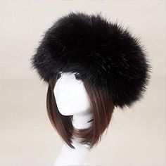 Bordeaux Fausse Fourrure Bandeau Head Warmer Hat Femme Rouge Hiver Ski Head Band New