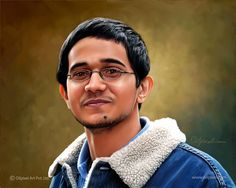 Digital – A gift for yourself or your beloved one for the rest of life. We are India based digital painting studio, servicing to clients of across the globe since a decade. Photo To Oil Painting, Painting Studio, Painting Art, Man Portrait, Digital Portrait, A Decade, Beautiful Moments, Concept Art, Globe