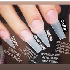 How to choose your fake nails? - My Nails Acrylic Nails Natural, Long Acrylic Nails, Long Nails, Natural Nails, Acrylic Nail Shapes, Acrylic Nail Designs, Milky Nails, Tapered Square Nails, Long Square Nails
