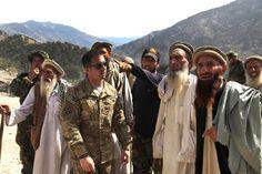 Korengal Valley US Captain meets with local elders shura