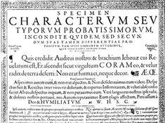 Ejemplo de tipografía Garamond en el catálogo de Conrad Berner.