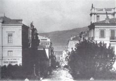 Old Athens Photos Ermou Street. Back to Old Athens Photos 1884 Street Photo, Documentary, Old Photos, Centre, Memories, Black And White, History, Photography, Painting