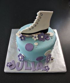 Fondant Roller Skate Cake Topper with Polka by parkersflourpatch, $29.00