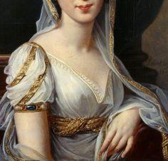 """""""Portrait of Désirée Clary"""" (1807) (detail) by Robert Lefèvre (1755-1830)."""