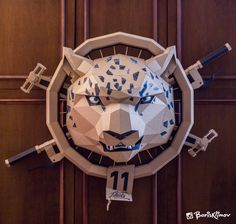 Snow Leopard Meets Biker In This Personified Cardboard Mashup by Boris Klimov Cardboard Sculpture, Cardboard Art, Uses Of Paper, Paper Art, Paper Crafts, Skull And Crossbones, Snow Leopard, Paper Cutting, Paper Flowers
