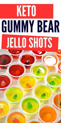 Do you want to have a killer party, but are limited on your alcohol choices? These Keto Jello Shots are the perfect way to drink without cheating! Wine Jello Shots, Best Jello Shots, Jelly Shots, Keto Jello Recipe, Jello Shot Recipes, Cocktail Recipes, Keto Cocktails, Eggnog Cocktail, Sugar Free Jello Shots
