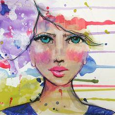 Emerging #arttherapy #draw #artjournal #mixedmedia #scketch #illustration #waterbrush #watercolor #happytime #escape #endorphines #tombowmarkers #gesso #missmixedmedia #ellemagazine #fashionillustration